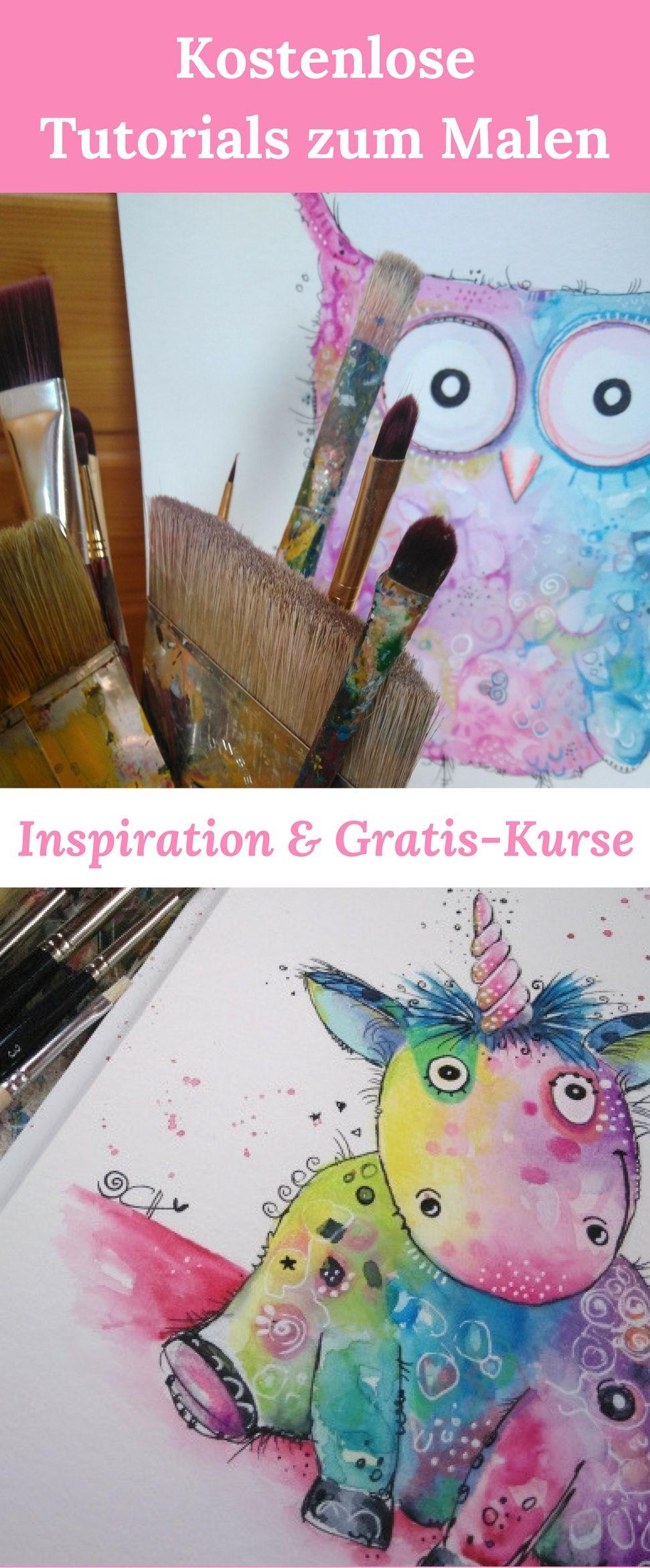 happy painting kurse kostenlos entdecken aquarell malen pinterest. Black Bedroom Furniture Sets. Home Design Ideas