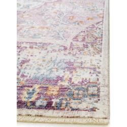 Photo of benuta Naturals Viskoseteppich Yuma Multicolor/Pink 120×170 cm – Vintage Teppich im Used-Look