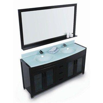 Design Element Waterfall 60 Double Sink Vanity Set Espresso Double Sink Vanity Double Sink Bathroom Vanity Bathroom Sink Vanity