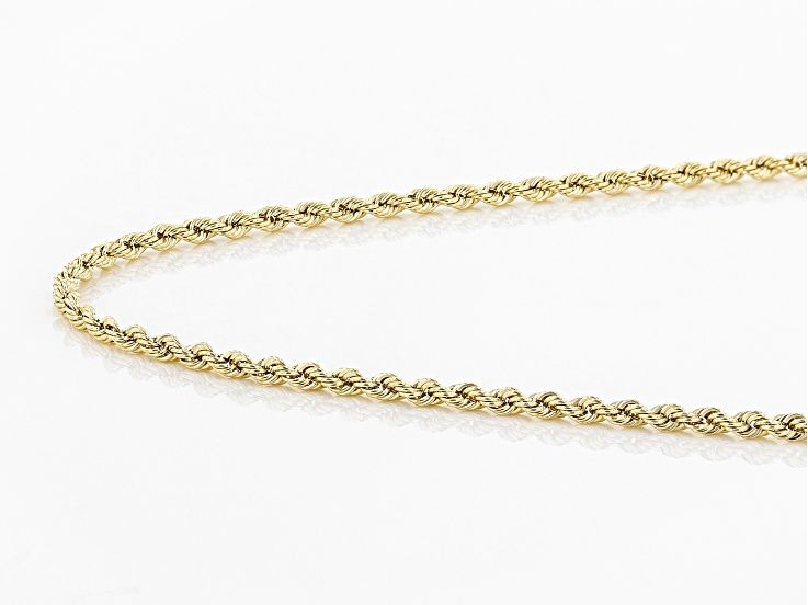 14k Yellow Gold 1mm Polished Rope 20 Inch Necklace Gold Gold Polish