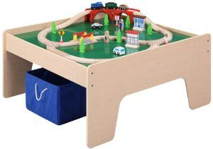 Maxim Enterprise Inc Train Table With 45 Piece Train Set By Maxim