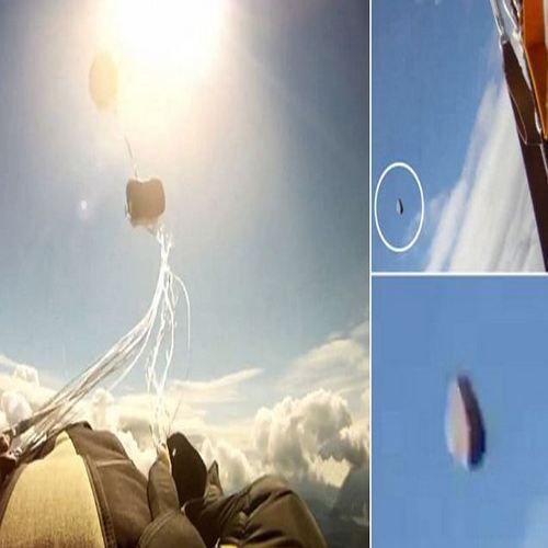 НЛО или космически обект за малко не уби парашутист
