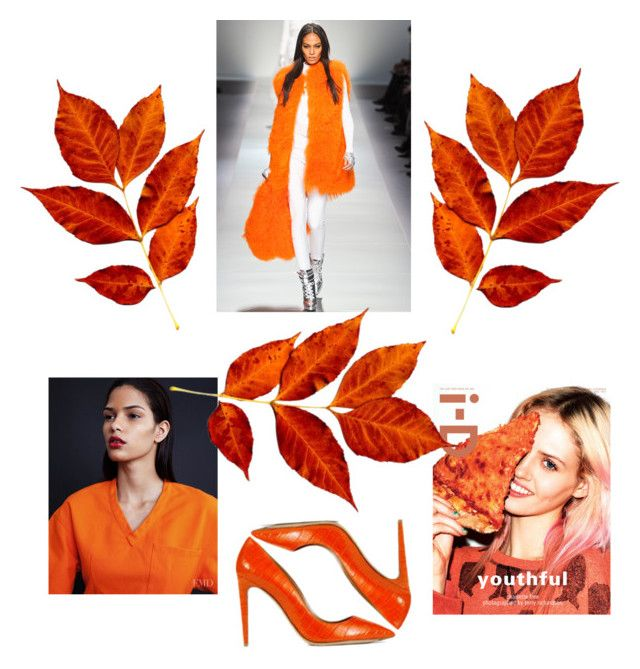 """""""orange xd"""" by lejla-5-1 ❤ liked on Polyvore featuring Ralph Lauren and Blumarine"""