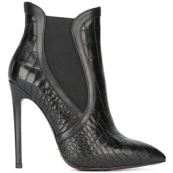 Gianni Renzi stiletto ankle boots 10850 EGP  liked on Polyvore  featuring shoes