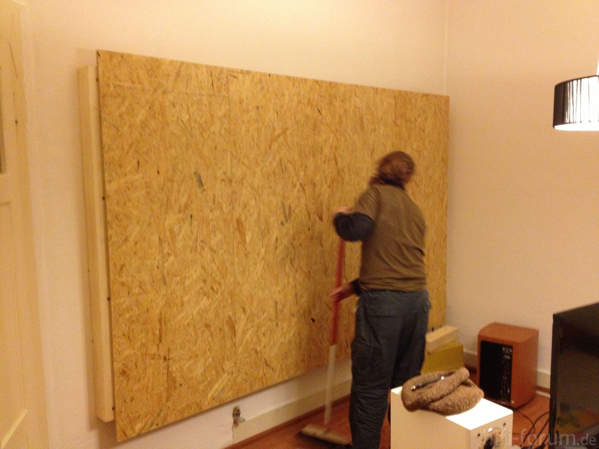 Tv Wand Tv Wand Selber Bauen Holzwand Fernseher Und Tv