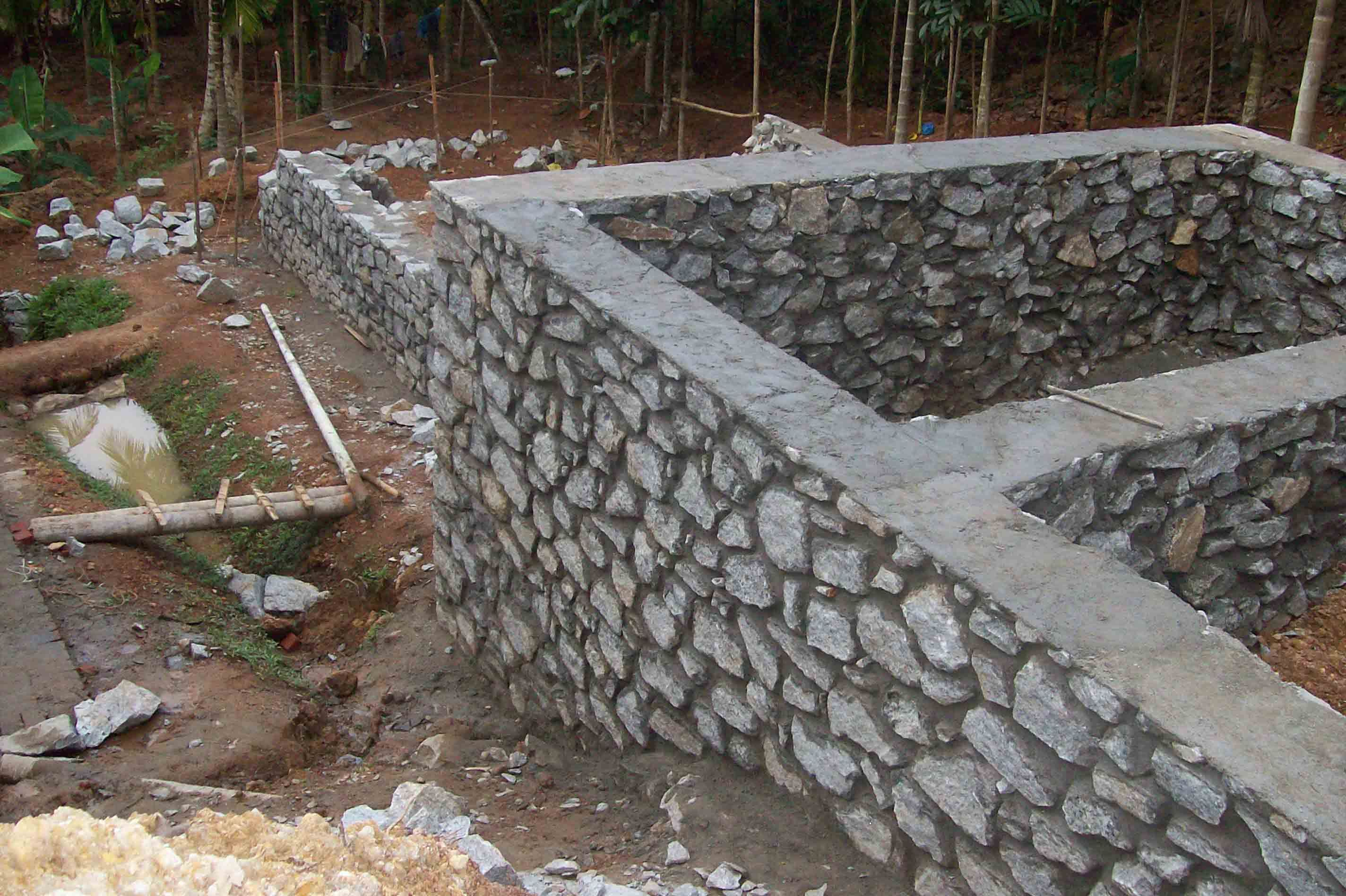 Rubble Masonry Foundation Rock Wall Stone Cabin Stone