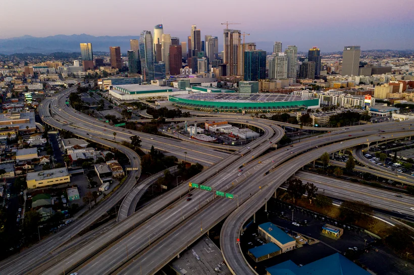 The 110 and 10 Freeways -- Los Angeles