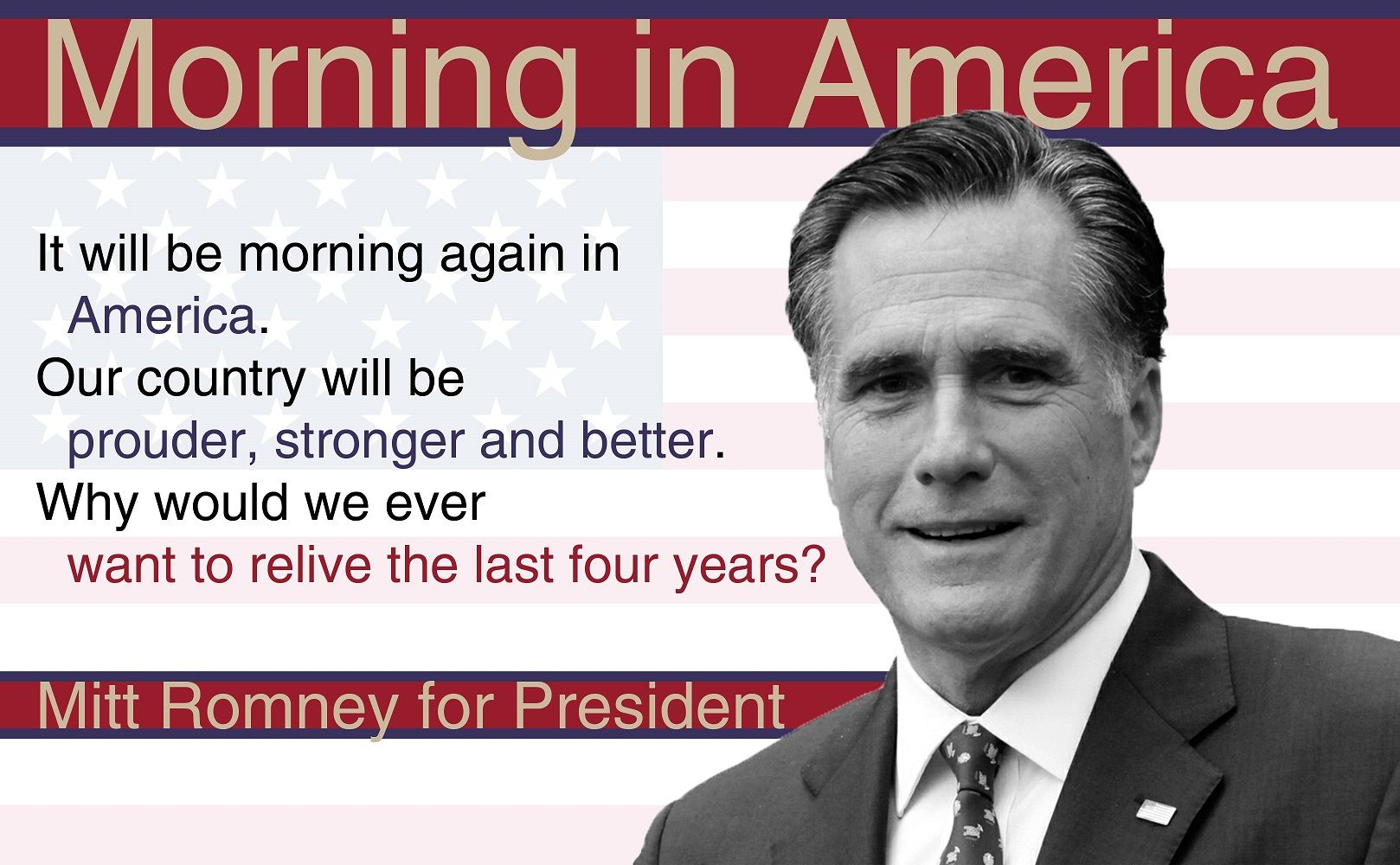 Based Off Of The Reagan Bush Morning In America Ads