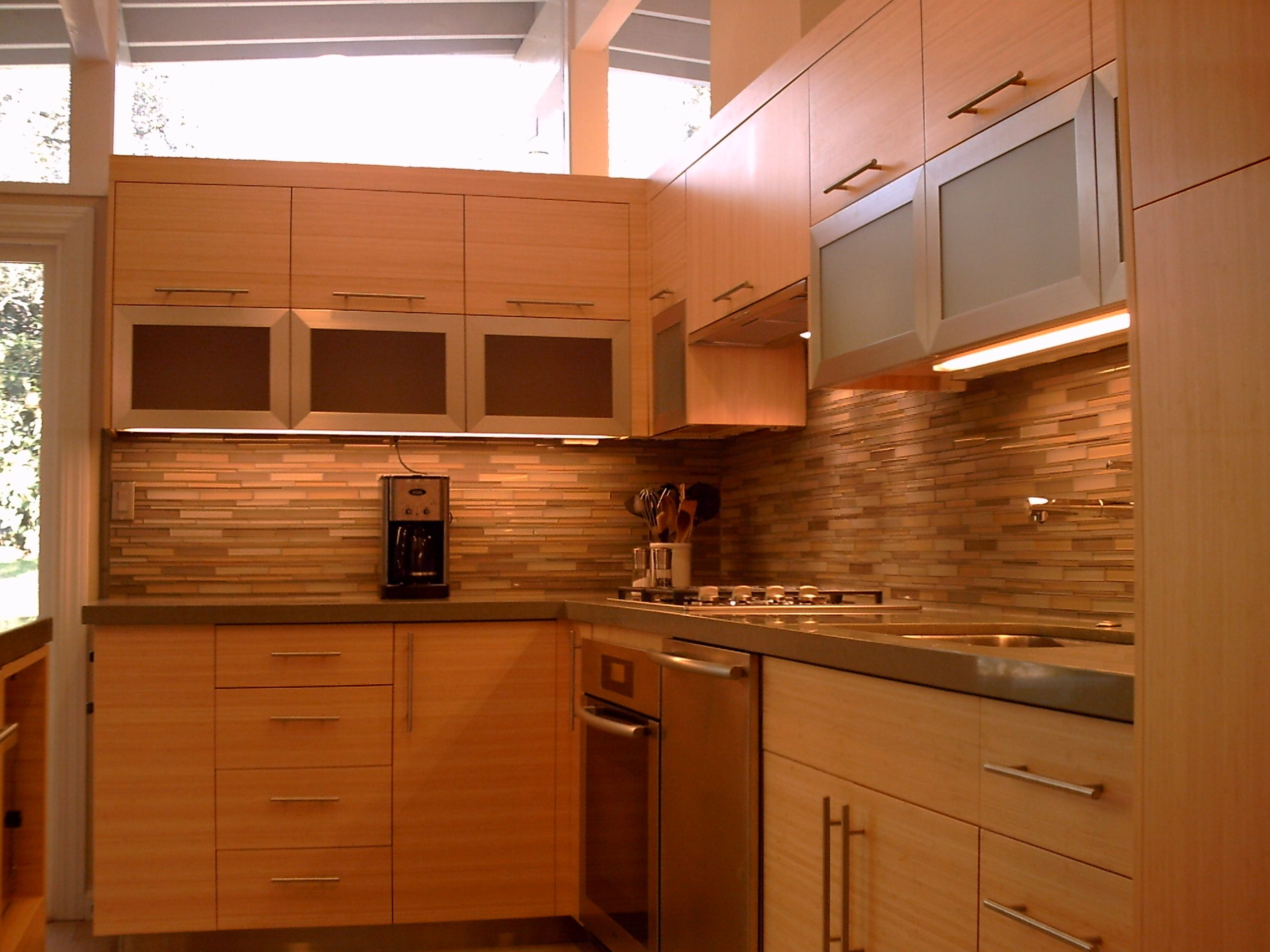 Bamboo Kitchen Remodel, entry way, the cab doors lift up ...