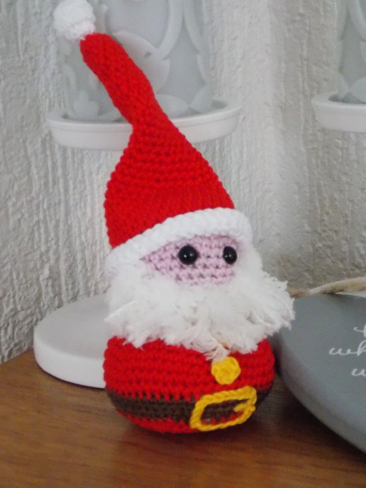 Kerstman Met Link Naar Gratis Patroon Kerstman Haken Pinterest