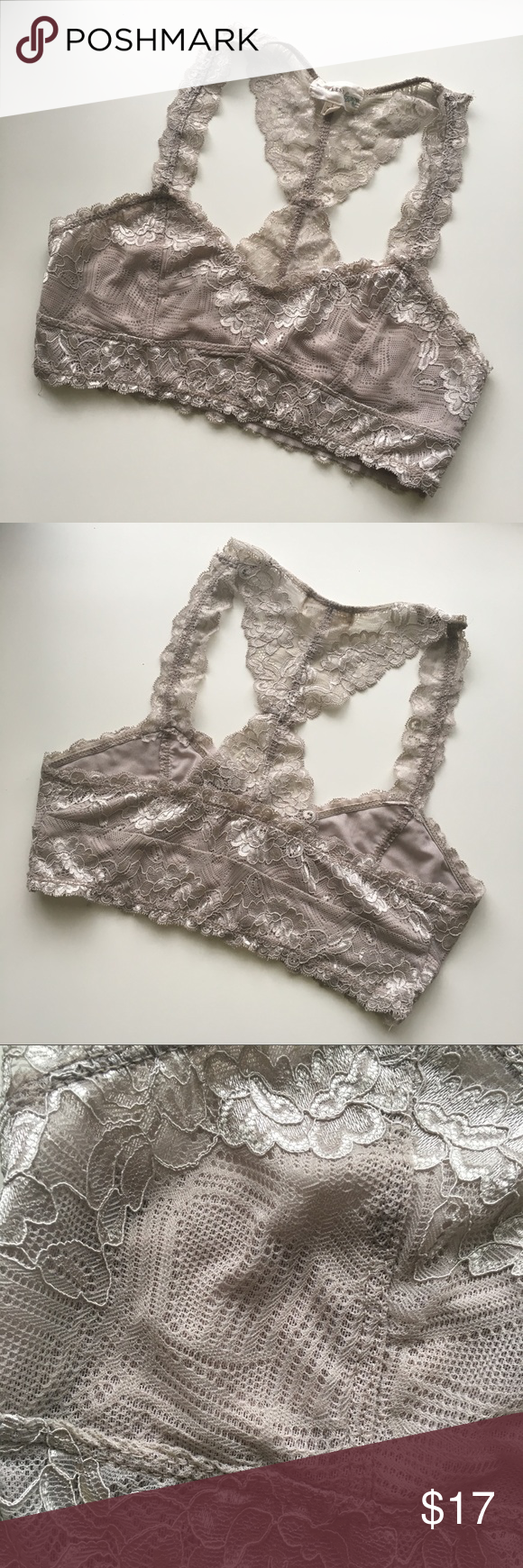 ee07bc6cac40d7 Taupe Lace Bralette Super cute to wear under tanks! No padding. Color as  shown in photo 3. Worn once over a bra. Washed in cold water, line dried  flawless ...