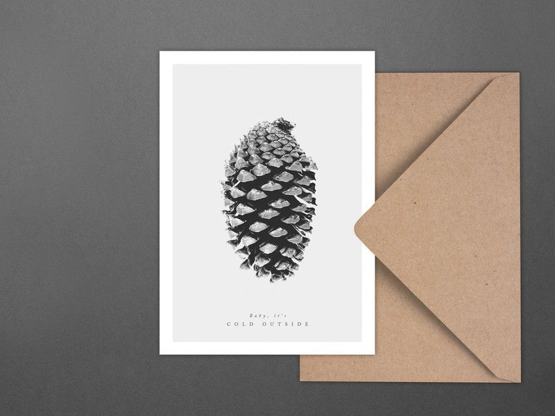 Weihnachten - Weihnachtskarte / Tannenzapfen No. 2 - ein Designerstück von…