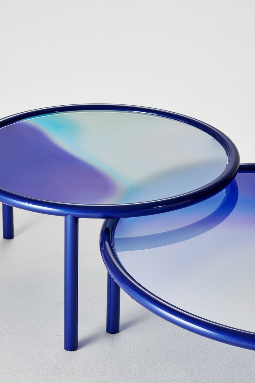 Low Round Crystal Coffee Table L A Sunset By Glas Italia Coffee