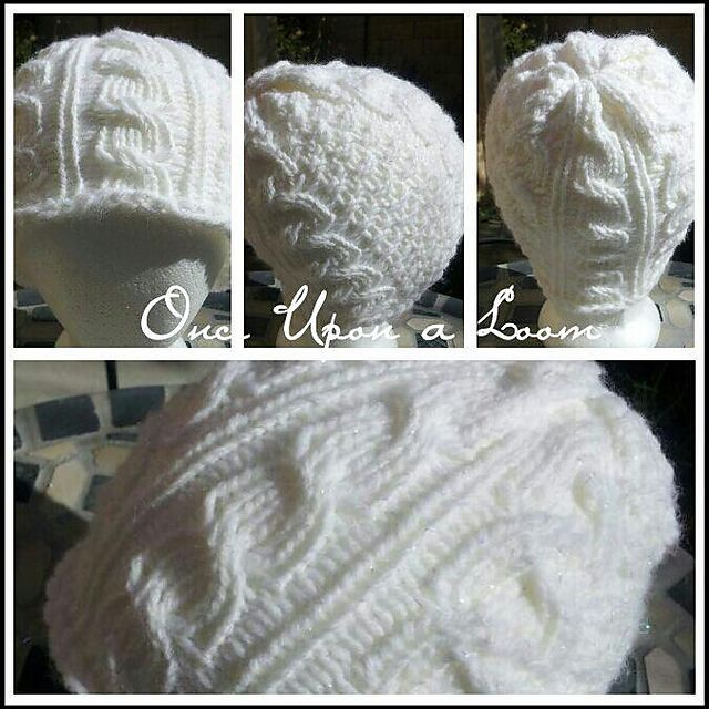 Ravelry Snow Day Cable Beanie Loom Knit Pattern By Once Upon A