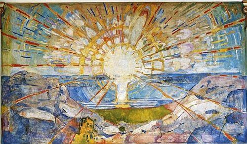 Edward Munch Le Soleil 1910 1912 Huile Sur Carton Munch