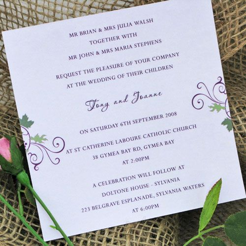Wedding Invitations Wording Ceremony And Reception At Same Venue