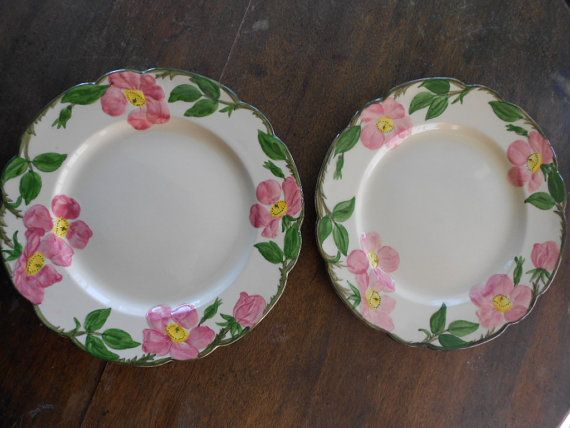 2 Franciscan Desert Rose dinner plates & 2 Franciscan Desert Rose dinner plates | Dishes - Place Settings ...
