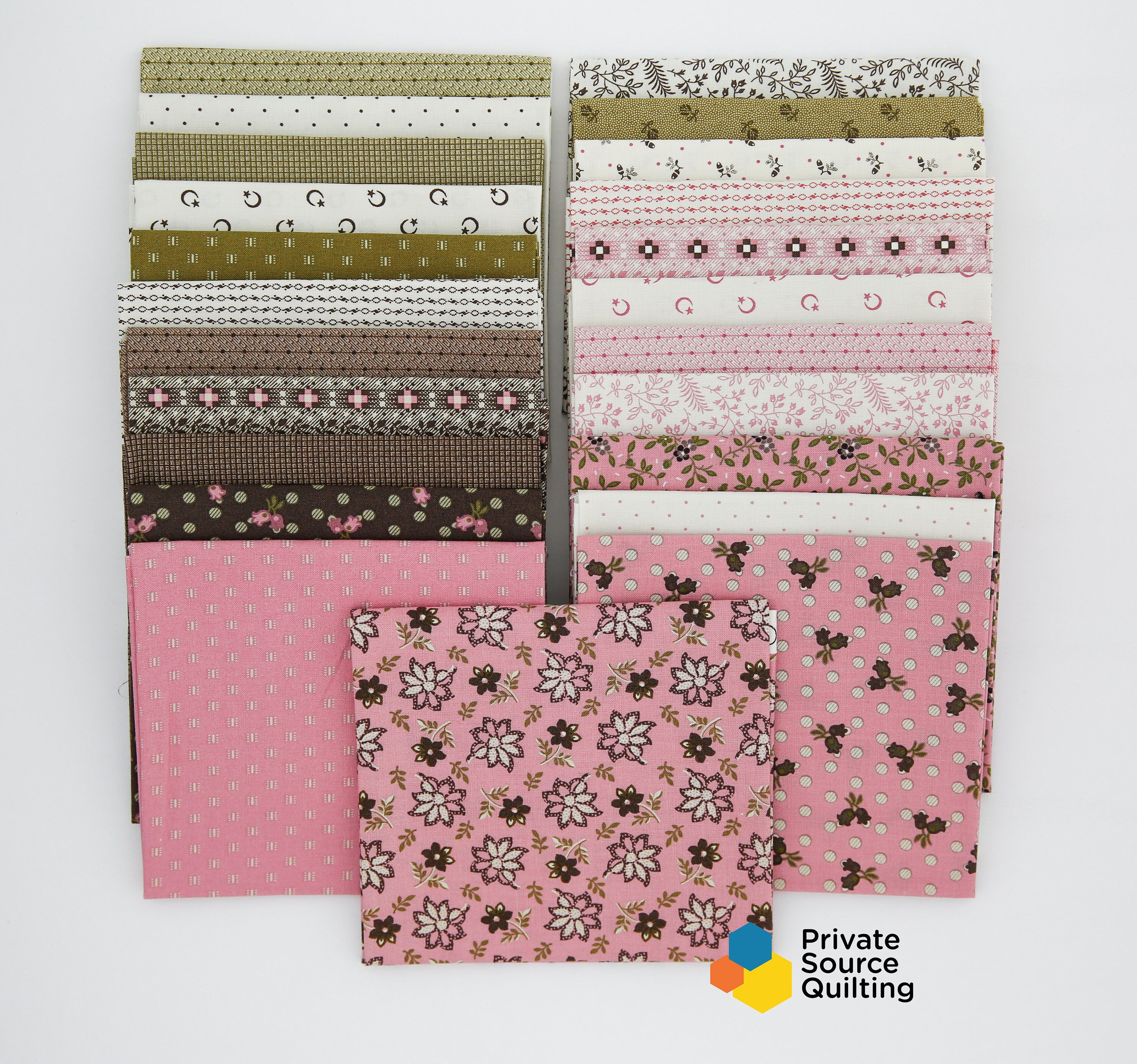 RJR Patrick Lose Odds and Ends Black and White 16 Fat Quarter Set Fabric