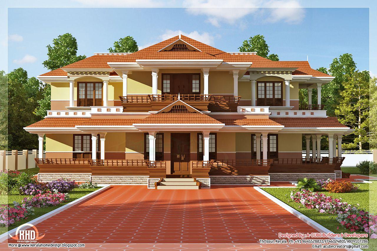 Keral Model 5 Bedroom Luxury Home Design Kerala House Design Luxury House Plans Model House Plan