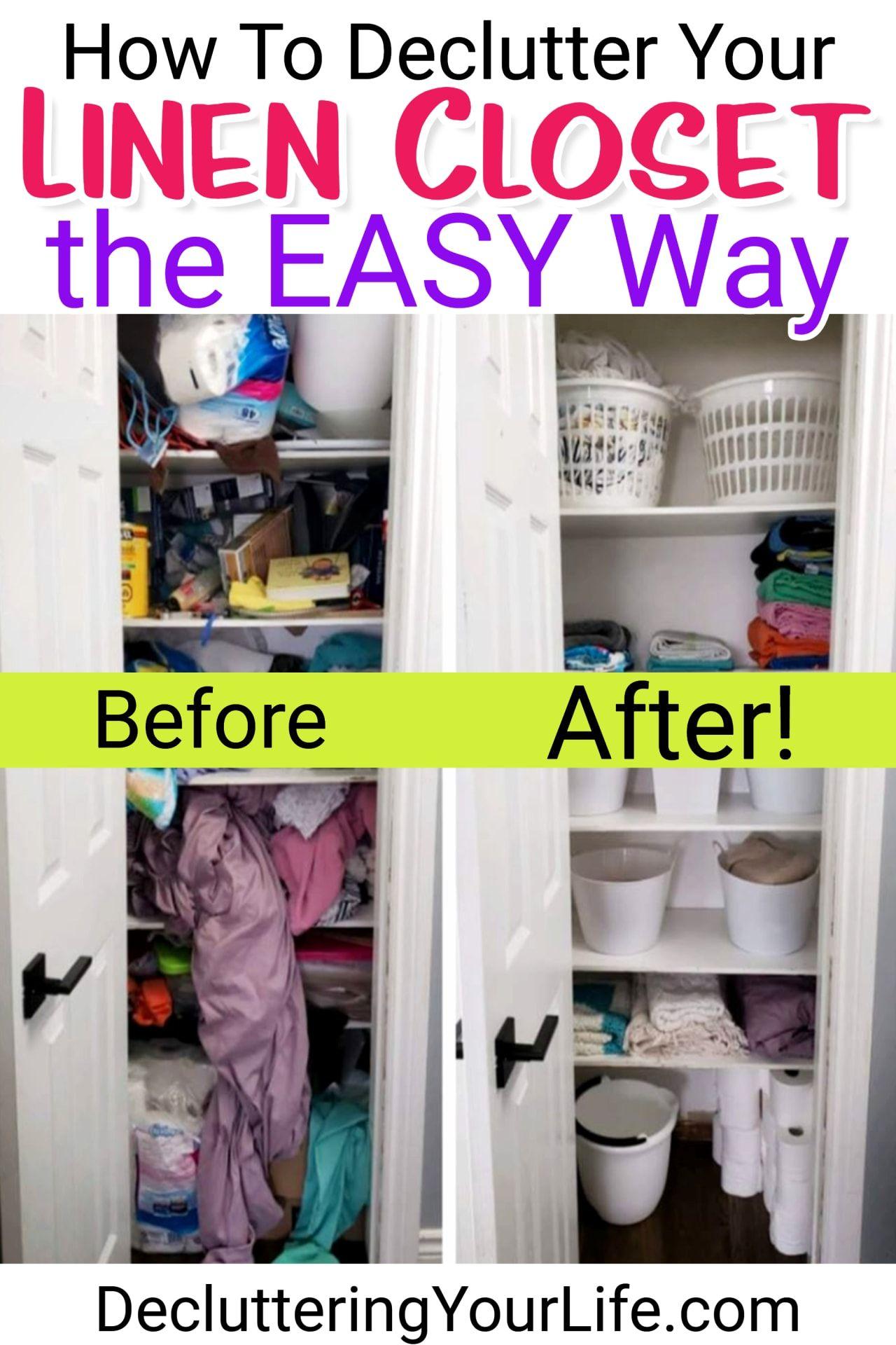 Diy Linen Closet Decluttering And Organization Ideas Closet Hacks Organizing Linen Closet Linen Closet Organization Diy