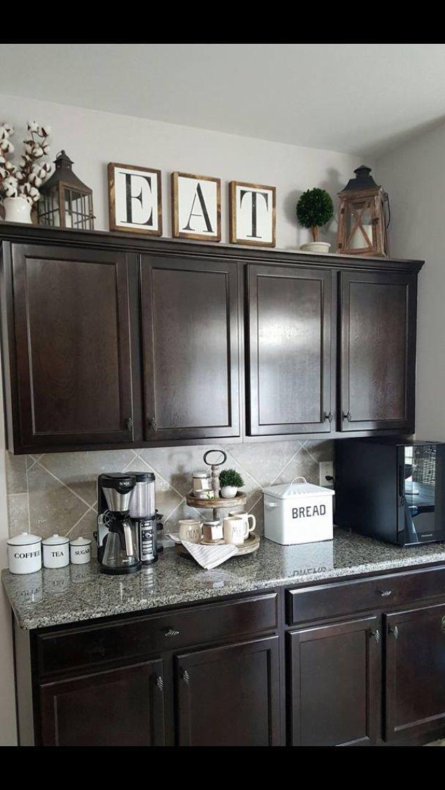 45 Farmhouse Kitchen Cabinets Decor Ideas On A Budget in ... on Farmhouse Kitchen Counter Decor Ideas  id=53524