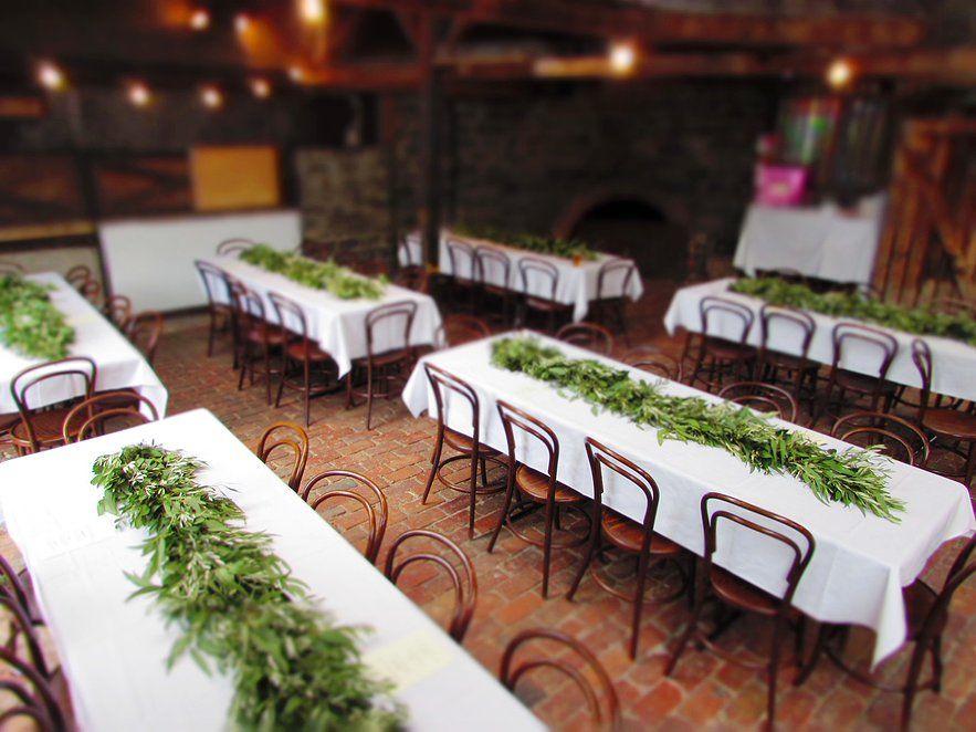 Lush Green Foliage Garlands As Wedding Table Runners