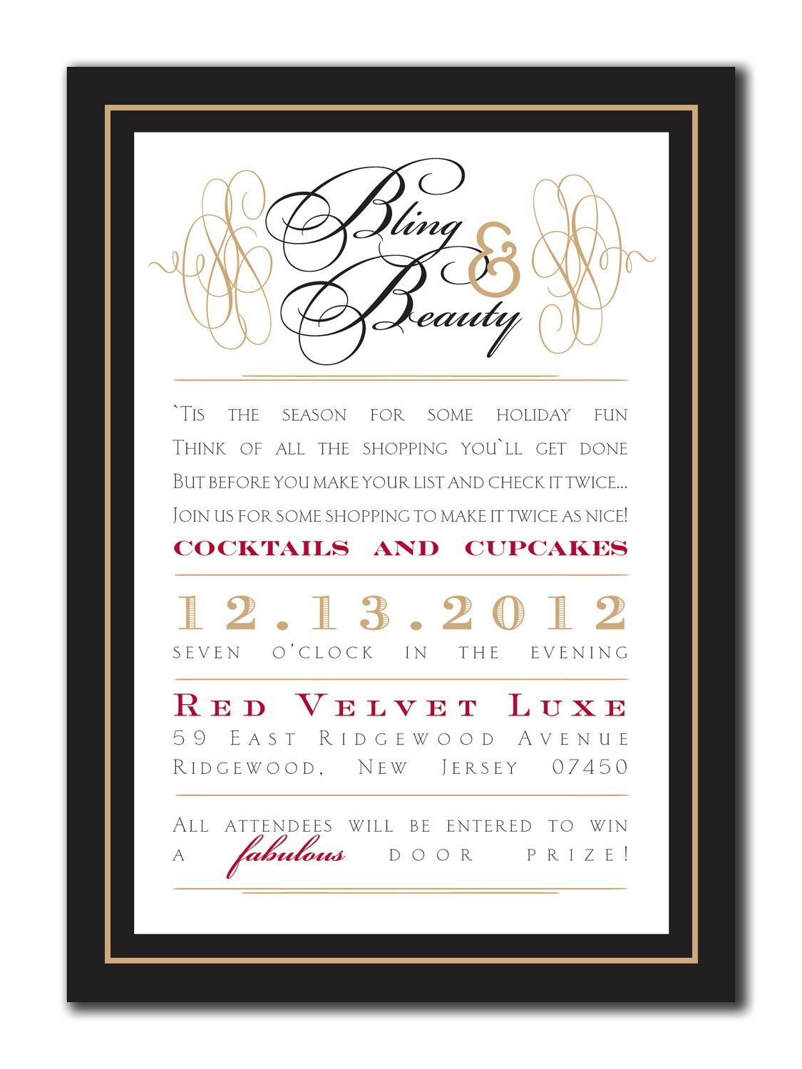 Bling and beauty open house invitation diy by lauraleidesign bling and beauty open house invitation diy by lauraleidesign stopboris Gallery