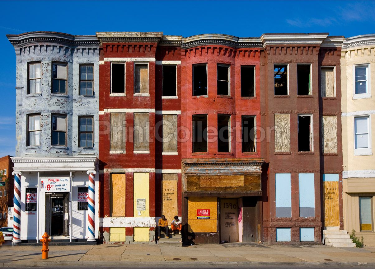 Row houses baltimore maryland maryland abandoned and for Maryland home builders