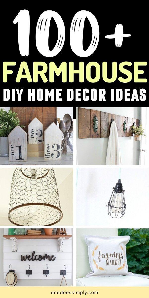 100+ DIY Farmhouse Home Decor Ideen, die so einfach und billig sind, #billig #decor #Die #DIY #einfach #Farmhouse #Home #Ideen #sind #und