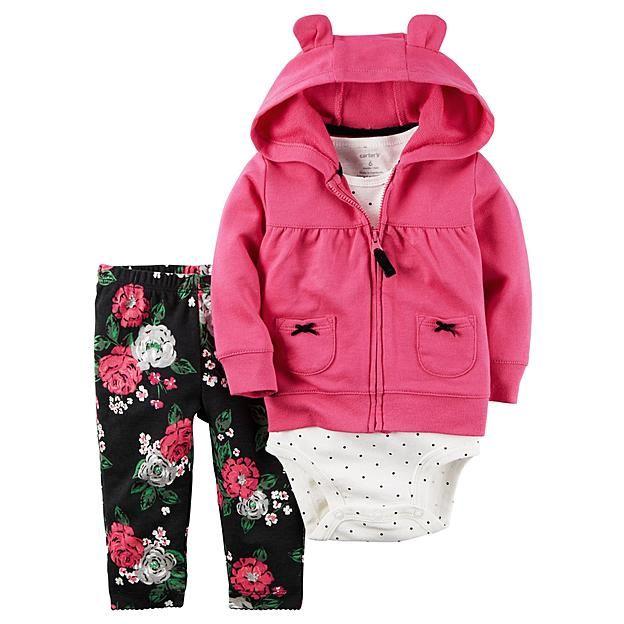 f0cecc0e0 Carter s Newborn   Infant Girls  Hooded Jacket
