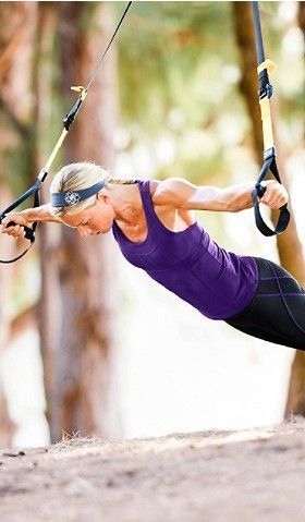 Love TRX! .... and LOVE her arms!