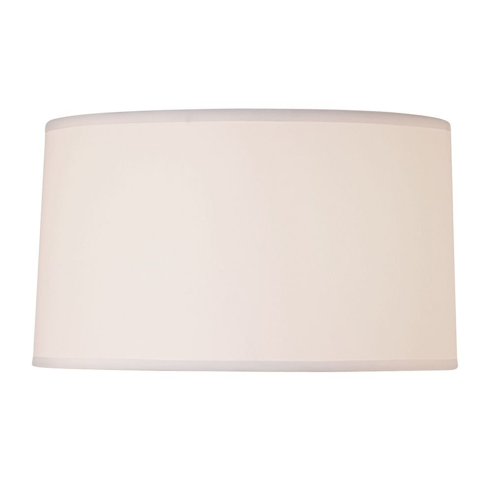 Lighting White Linen Drum Lamp Shade