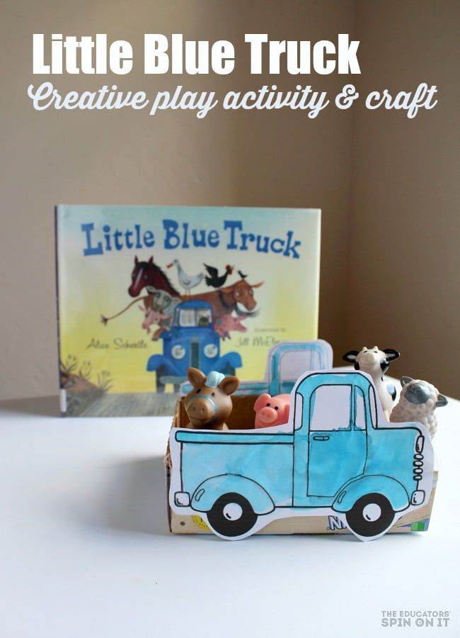How To Make A Little Blue Truck Craft For Kids Story Play Truck Crafts Little Blue Trucks Stories For Kids
