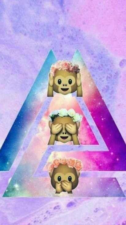 Monkey Emoji And Wallpaper Image Emoji Backgrounds Monkey Emoji Wallpapers Emoji Wallpaper