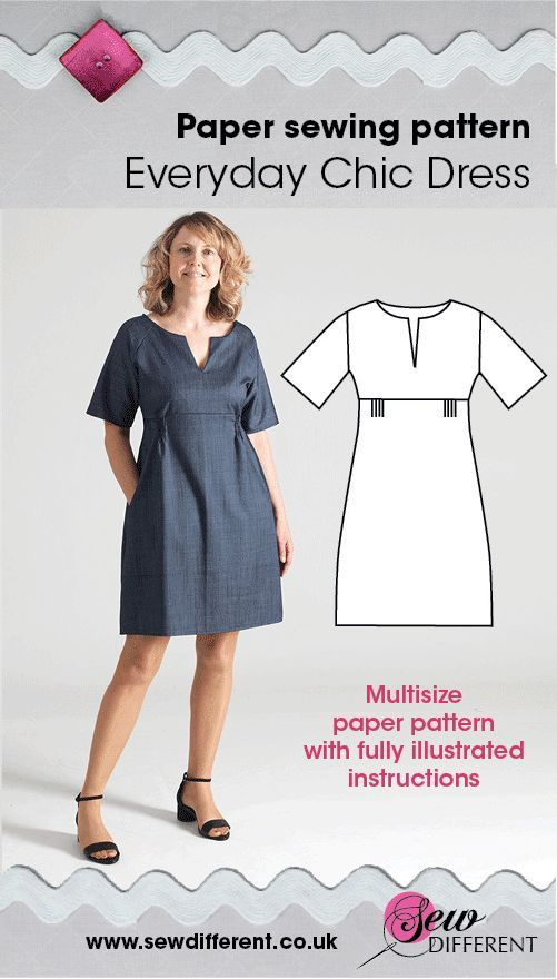 Everyday Chic Dress - Multisize sewing pattern | Costura, Patrones y ...