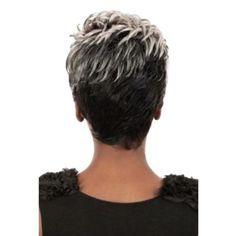 〖Follure〗Natural Light Gray Straight Short Hair Wi