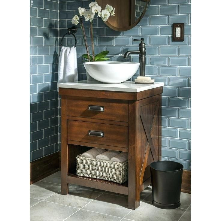 Vanity With Bowl Sink Vessel Sink Base Ideas Surprising Small Rustic Bathroom Vanity Cou Small Bathroom Sinks Small Bathroom Vanities Farmhouse Bathroom Vanity