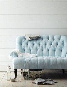 Beau Pastel Blue Sofa