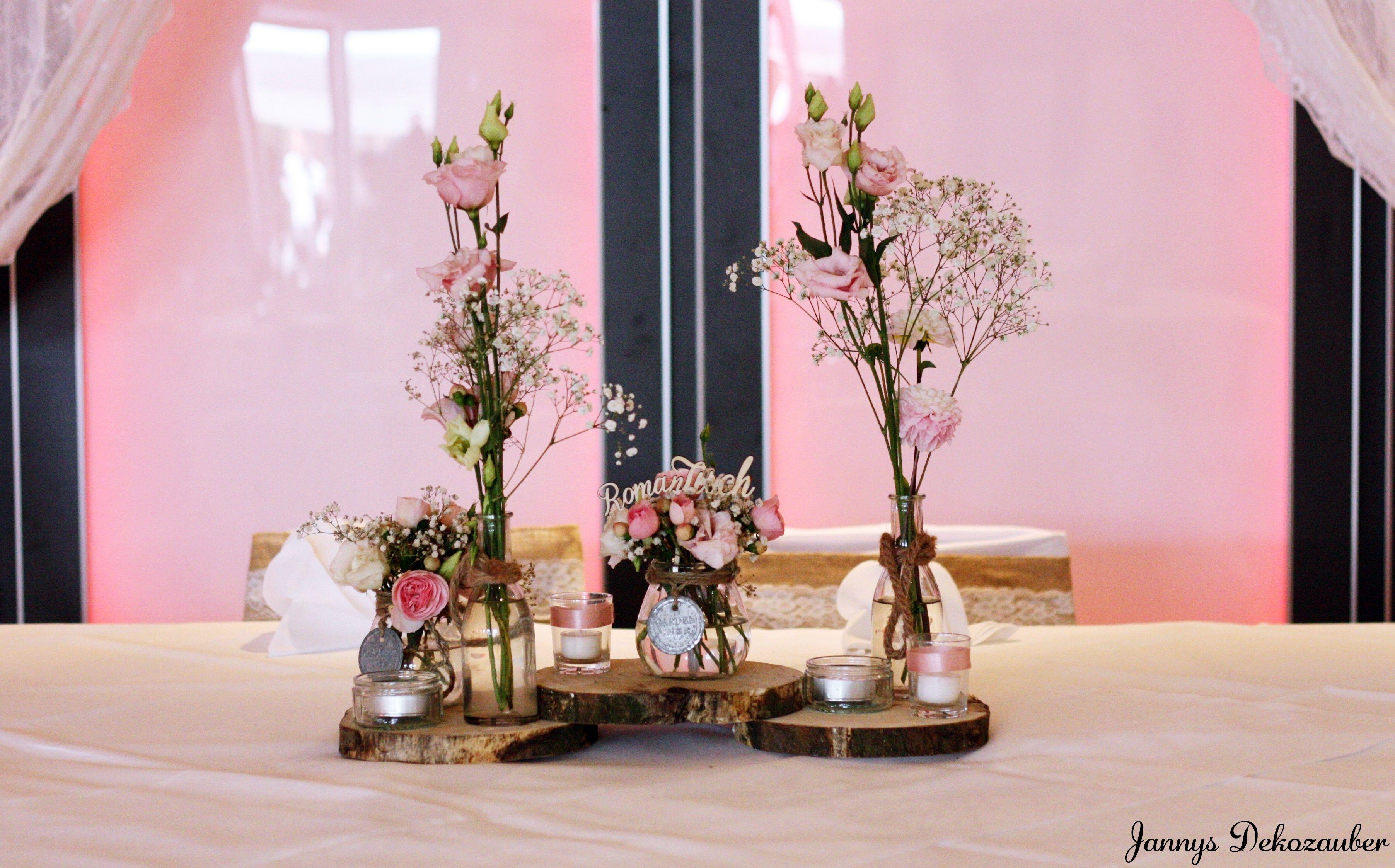 Vintage Holzscheiben Brautpaarisch Haupttisch Hochzeit Tischdeko Blumen Rosa Holz Bilder Dekoration Dekoration Hochzeitsdekoration