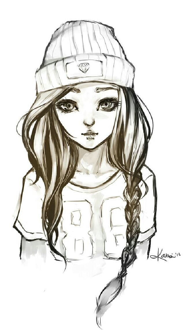 Cute Cool Drawings : drawings, Animes, Escuchando, Musica, Dibujar, Buscar, Google, Hipster, Drawings,, Drawings