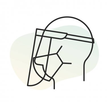 Mandatory To Wear Protective Face Mask And Face Shield Icon As Eps 10 File Icon Shield Icon Icon Face Shield