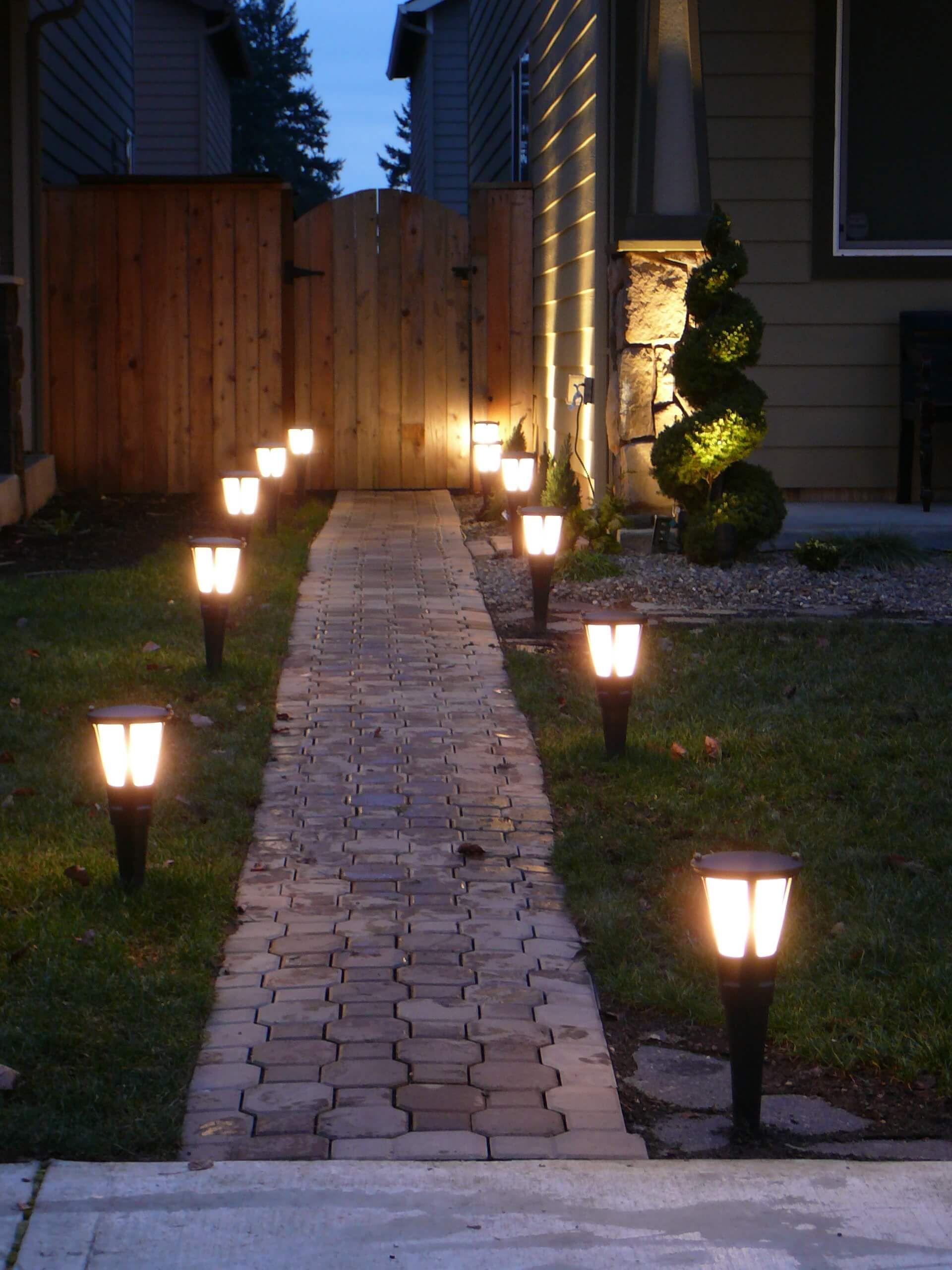 Simple Solar Brick Pathway Lights Backyard Lighting, Outdoor Wall Lighting,  Lights For Patio,