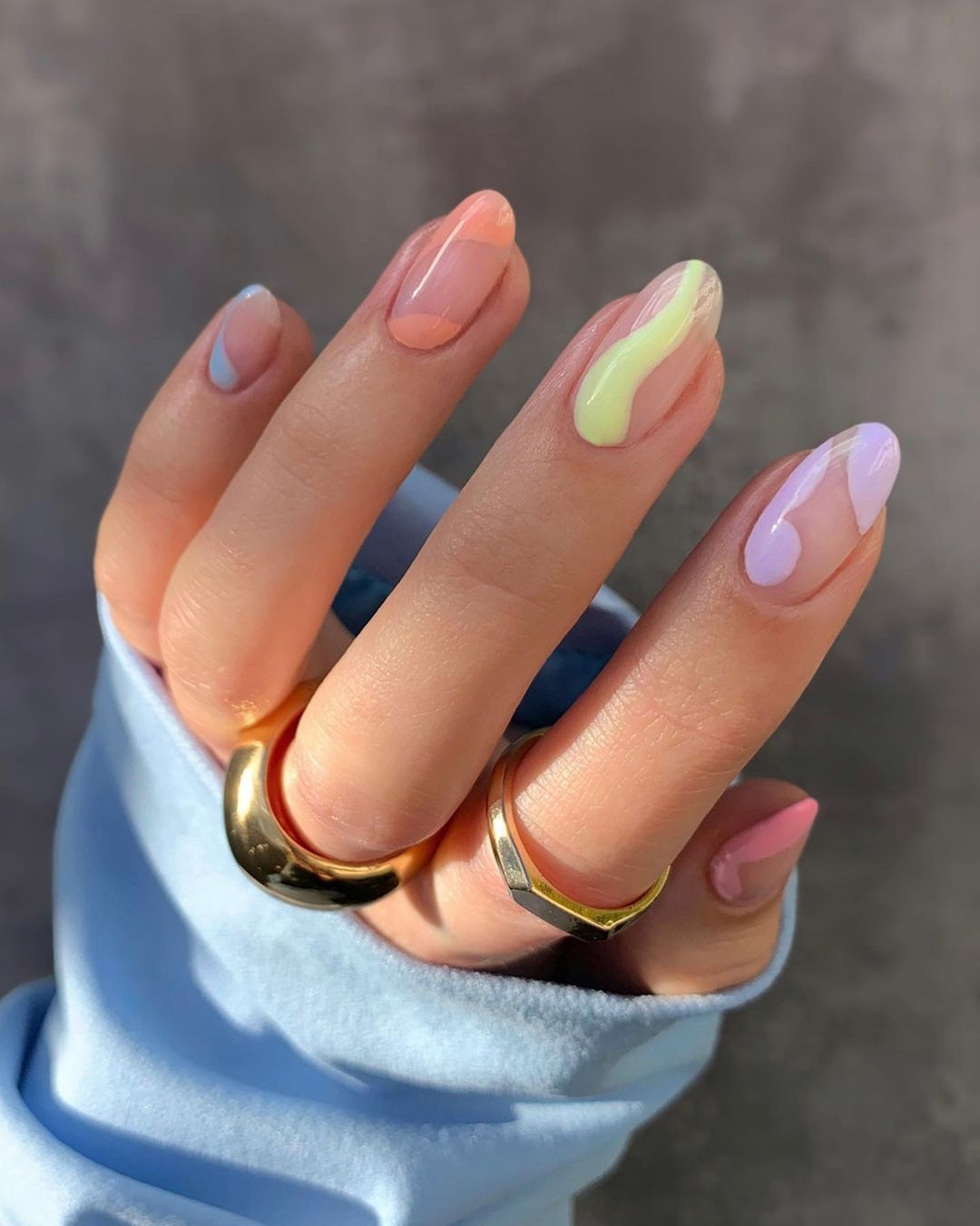 pastel nail inspo