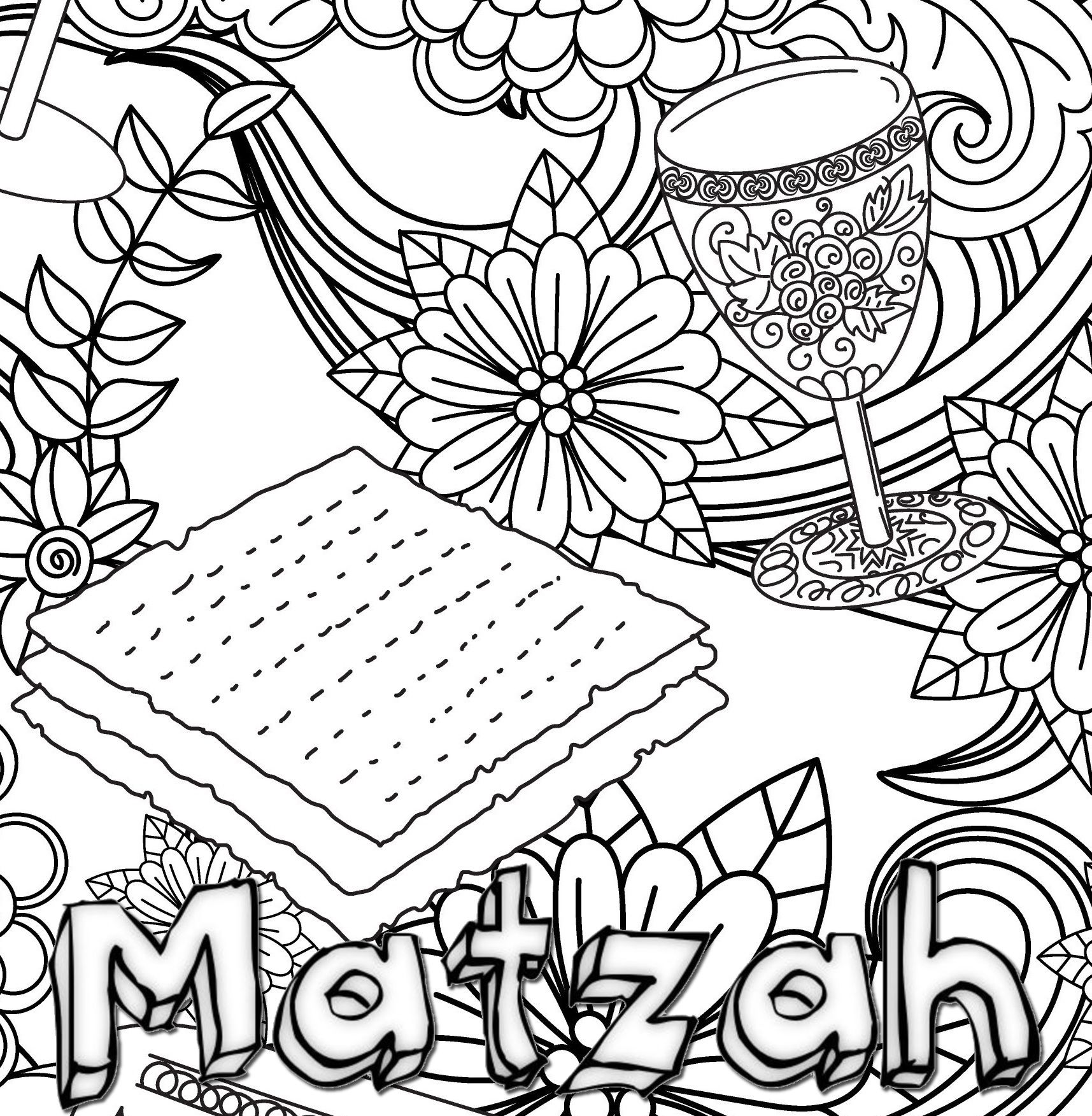 New Coloring Book For Passover Coloring Passover Phrases
