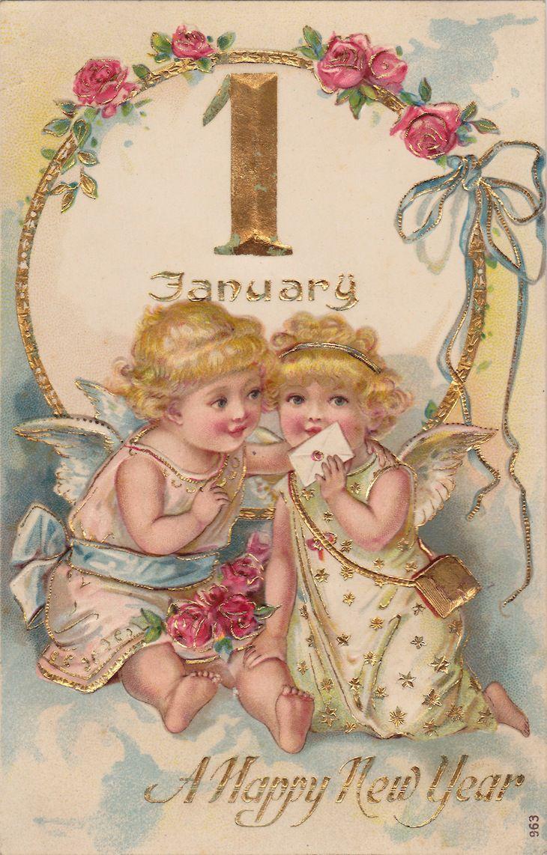 1907 Bonne Année – free printables #voeuxbonneannée