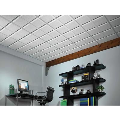 Usg Ceilings Luna Pedestal Iv R72716 Acoustical Ceiling Tiles 2 Feet X 2 Feet X 3 4 Inch Shadowline Tapered Edge Acoustical Ceiling Ceiling Tiles Home