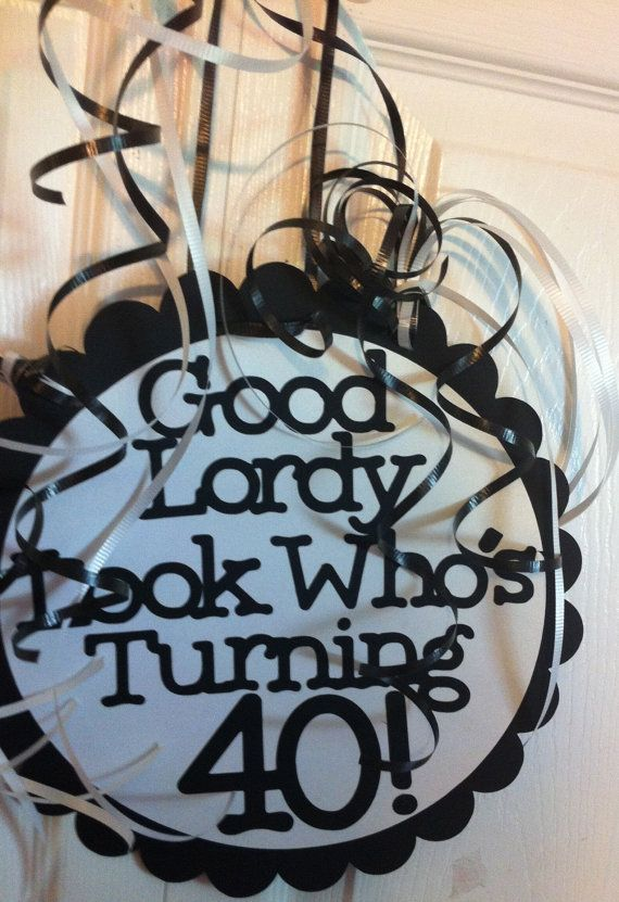 40th Birthday Decorations Giant Personalized Party By FromBeths 1750