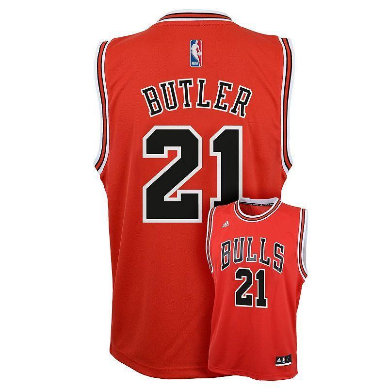 Boys 8-20 Adidas Chicago Bulls Jimmy Butler Replica Jersey, Boy's, Size: