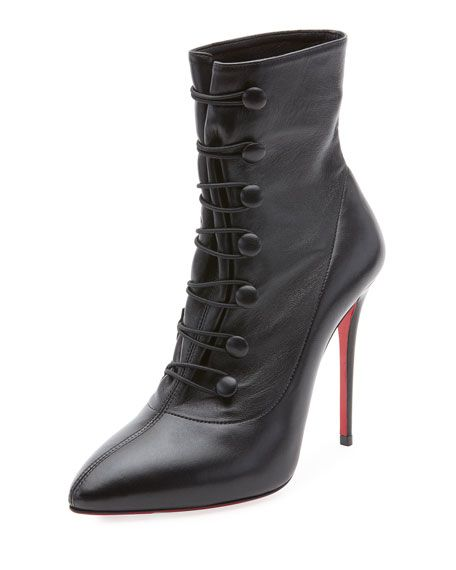 bdeb2dda156e French Tutu Button-Loop Napa Red Sole Bootie by Christian Louboutin at  Neiman Marcus