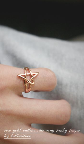 Rose Gold Star Ring at Kellinsilver rose gold ring star rose gold